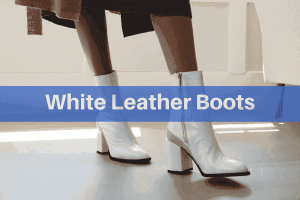 white leather boots for women